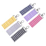 1 Pc Lipstick Holder Keychain Wave Pattern