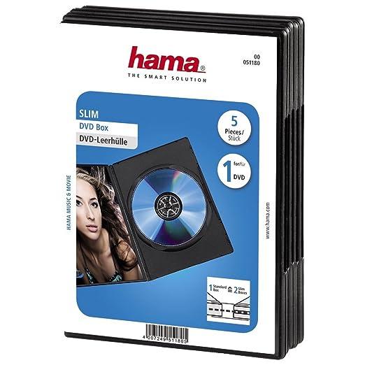 31 opinioni per HAMA Custodia DVD Slim 5, colore: Nero