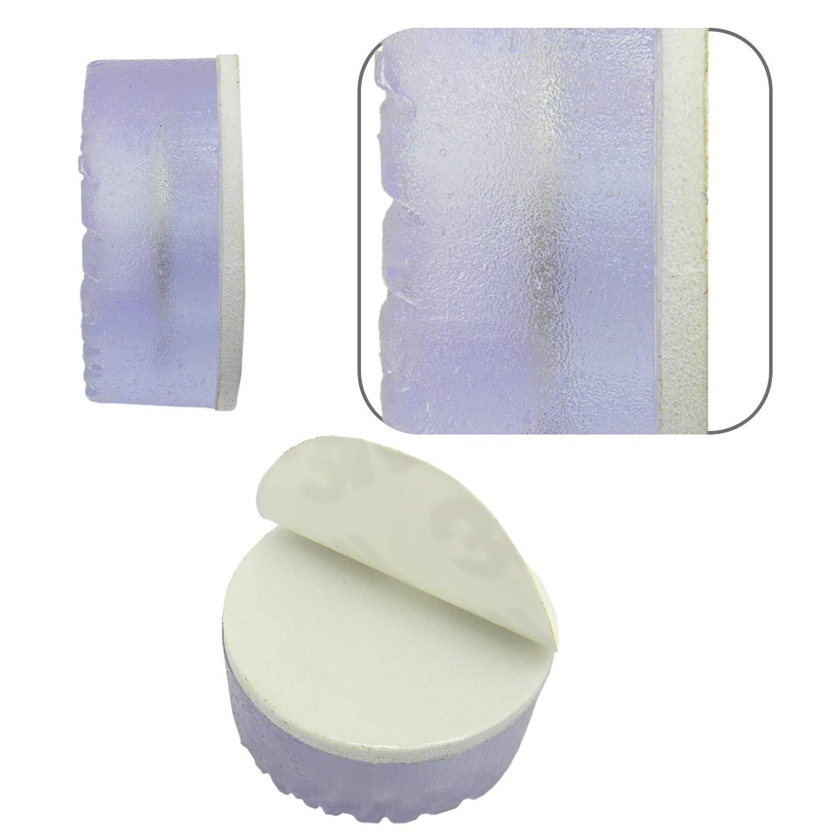 QY 12PCS Transparent Cylindrical Shape Rubber Non Slip Non Skid Feet Pad for Table Desk Chair and Sofa