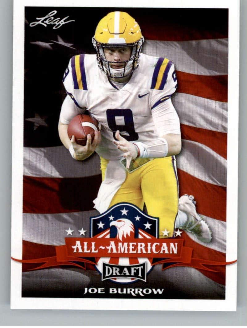 2020 Leaf Draft Football #61 Joe Burrow Pre-Rookie Trading Card LSU Tigers