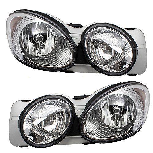 Headlights Headlamps Driver and Passenger Replacements for 05-09 Buick LaCrosse 25942066 25942067