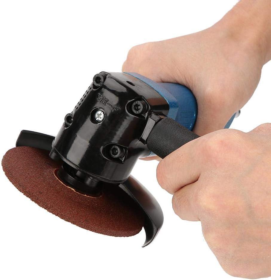 Akozon Winkelschleifer 4-Zoll-Schleifpad Winkelschleifer Polierer Pneumatisch Schleifen Polierwerkzeug 11000 U//min