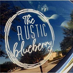 The Rustic Blueberry auto Sticker,Vinyl Car Decal,Decor for Window,Bumper,Laptop,Walls,Computer,Tumbler,Mug,Cup,Phone,Truck,Car Accessories