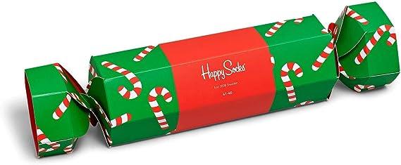 Happy Socks caja de navidad para mujeres - bastón de caramelo - 2 ...