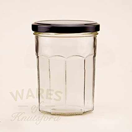 12 X 385ml Bonne Maman Jam Jars Ideal For All Jams Preserves And Marmalades Black Amazon Co Uk Kitchen Home