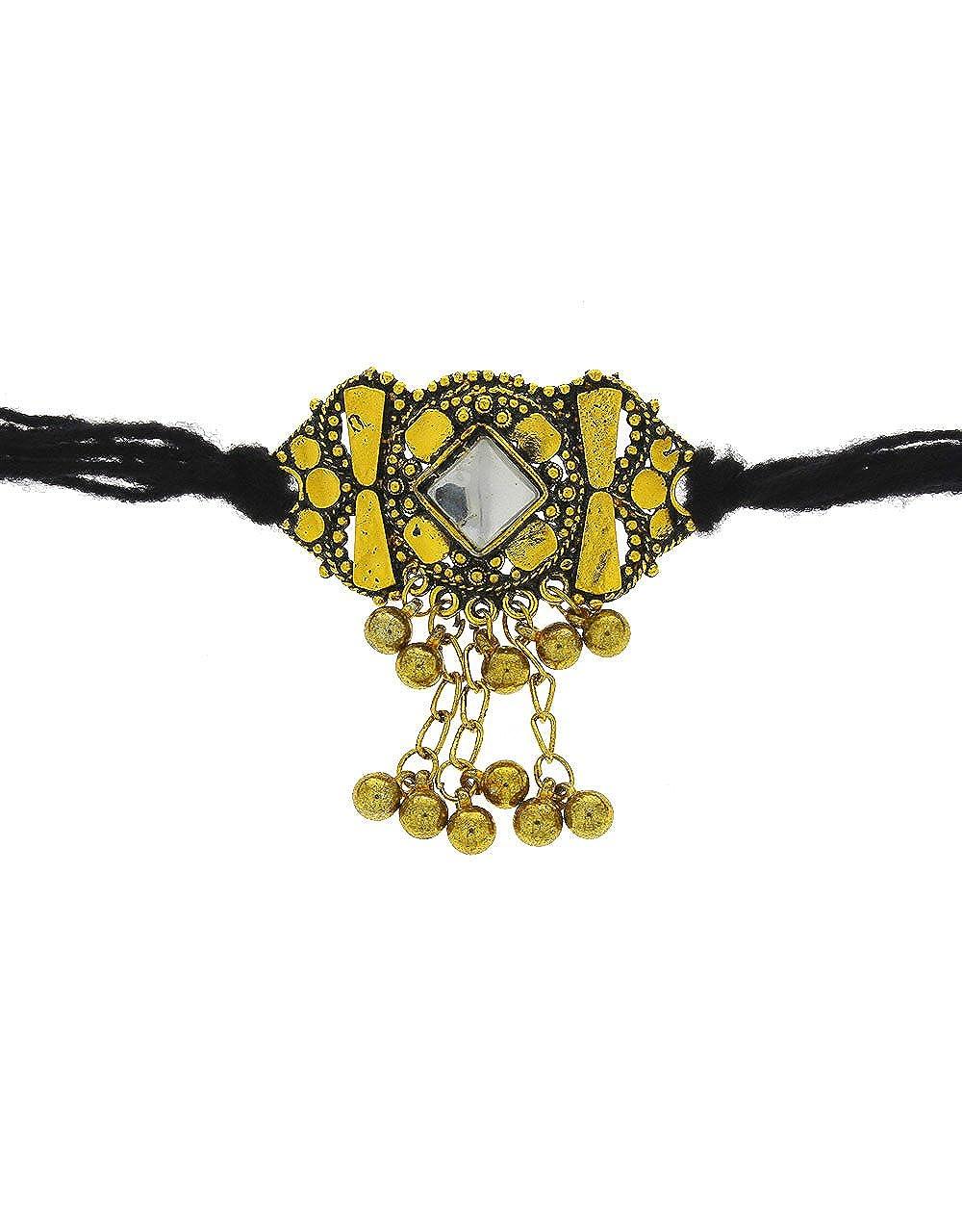 Anuradha Art Golden Finish Studded Sparkling Stone Bajuband//Armlets for Women//Girls