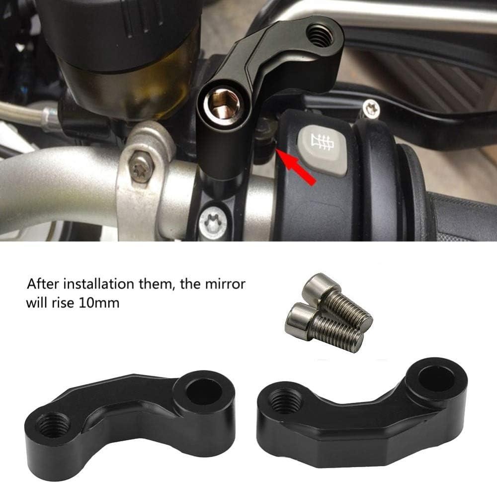 Tamkyo Motorrad Spiegel Riser Erweiterung Halterung Adapter F/ür R1200Gs Lc//ADV 13-18 R Ninet R1200R Premium CNC Aluminium Legierung Schwarz