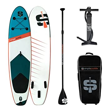 SIMPLE PADDLE Stand Up Paddle hinchable SUP S2 10 2/310 cm, Pagaie