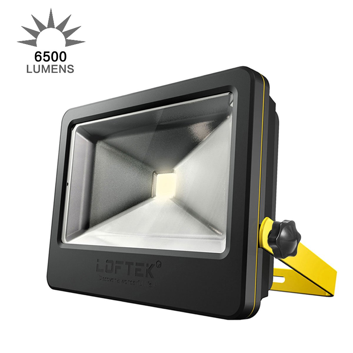 Loftek 50w Daylight White Floodlight Super Bright Outdoor Led Flood Light 6500 Lm High Powered Waterproof Security Spotlight With Timer Function