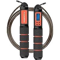 multifun Hopprep, hastighetsmätare, kaloriräknare, justerbart digitalt hopprep med larmpåminnelse för fitness, crossfit…