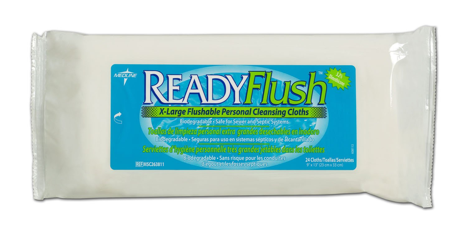 Amazon.com: ReadyFlush Flushable Wet Wipes, Qty 576: Health & Personal Care