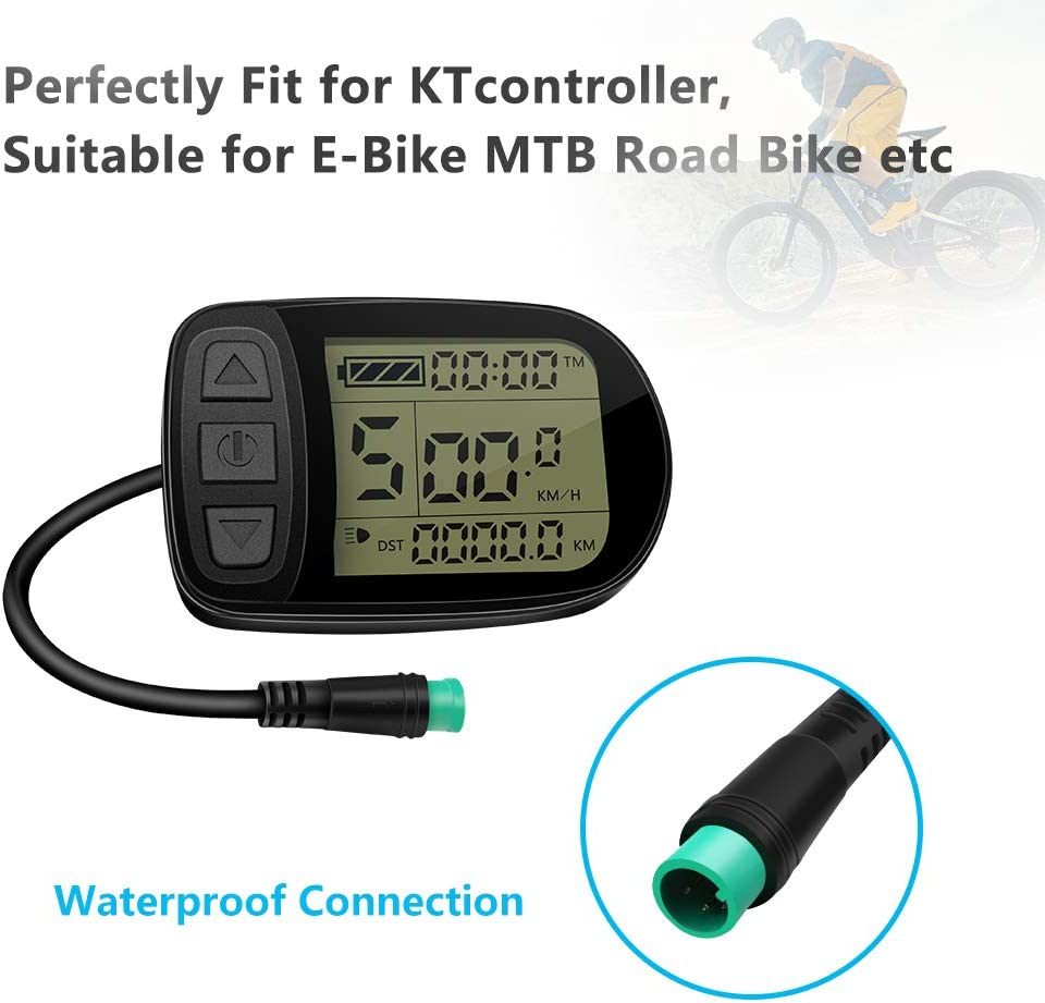 24v 36v 48v E Bike Kt Lcd5 Display Control Panel With Waterproof Connector For Electric Bicycle Kt Controller Conversion Parts Amazon Co Uk Sports Outdoors