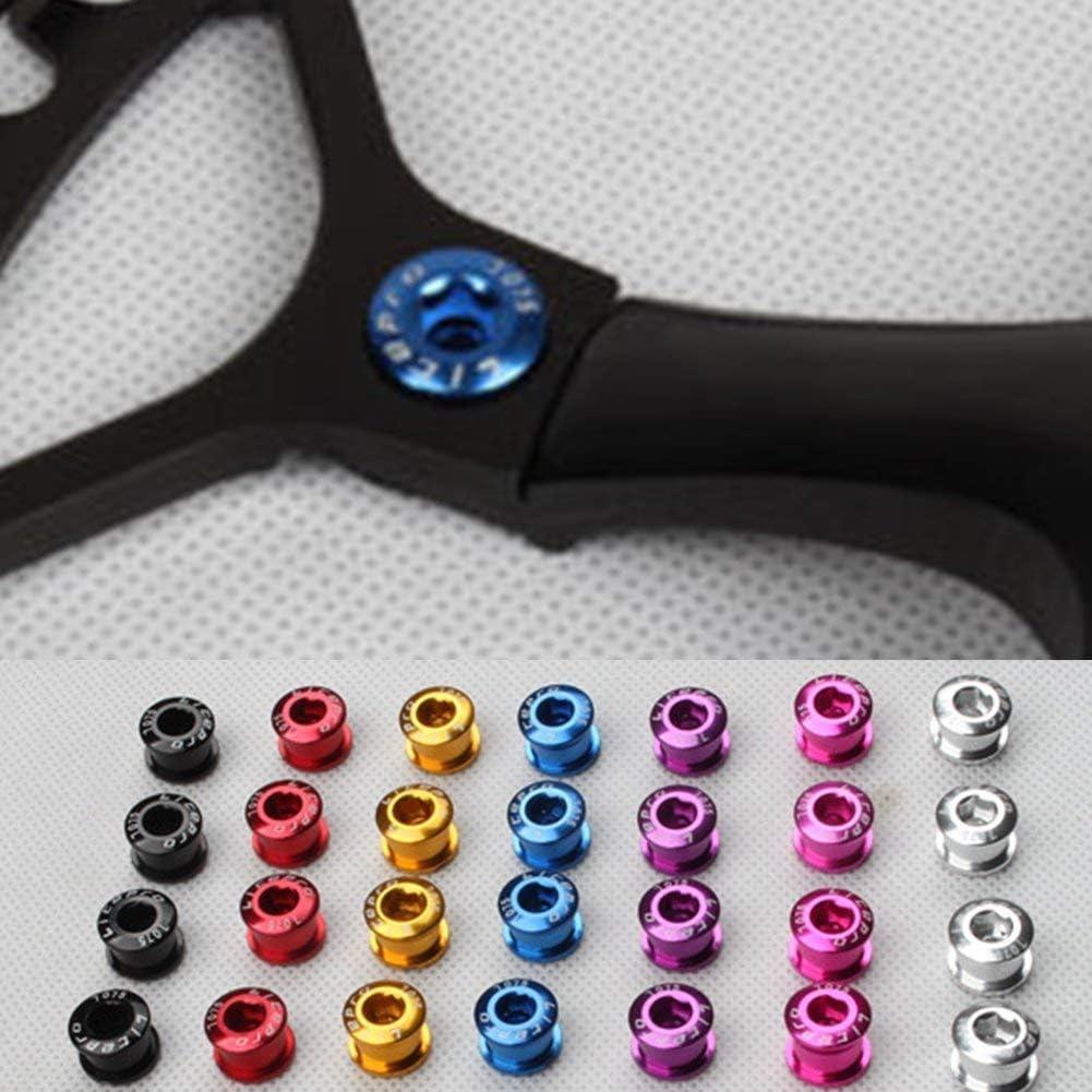 Ultra L/éger Couleur V/élo P/édalier Vis Pignon Roue Boulon V/élo Disque Vis Argent SUPEWOLD 5pcs 6.55mm Bicyclette Disque Vis
