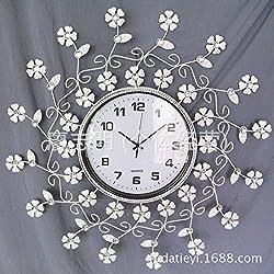 AYYA wall clock Creative Iron wrought iron bell European wrought iron, white