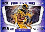 #7: 2018 Score Fantasy Stars #5 Todd Gurley II Los Angeles Rams Football Card