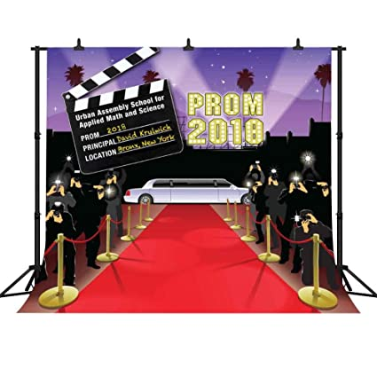 Fhzon Xft  Prom Backdrops For Photography Red Carpet Taking Pictures Director Record Board Background Grad