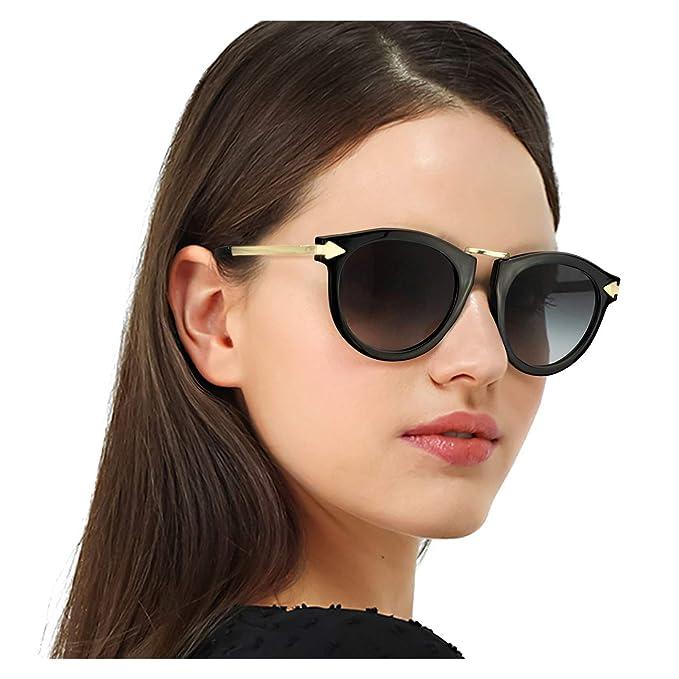 Amazon.com: Enafad Gafas de sol polarizadas redondas para ...