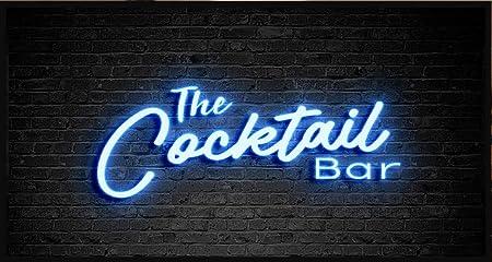 Artylicious Personalised Tiki Home Bar gift Tiki Bar wood effect Bar Runner
