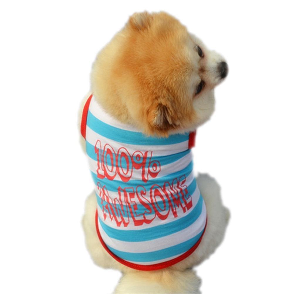 haoricu Puppy Clothes, Cute Summer Small Dog Cat Pet Clothing Vest T Shirt Apparel (L)