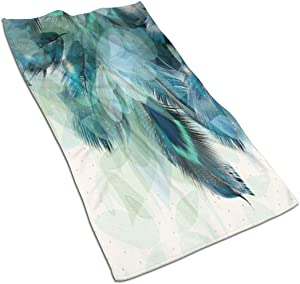 Peacock Feather Kitchen Towels ¨C 17.5X27.5in Microfiber Terry Dish Towels for Drying Dishes and Blotting Spills ¨CDish Towels for Your Kitchen Decor