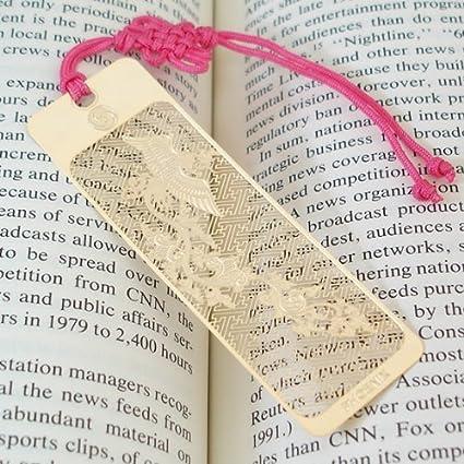 STOBOK Segnalibro a forma di foglia a forma di fiore con segnalibro a forma di fiore in metallo 4pcs per gli studenti