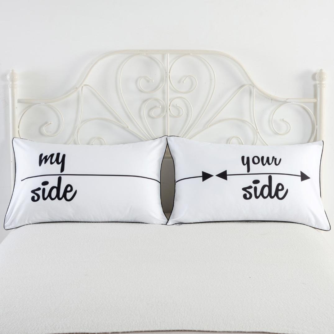 Amazon.com: my side and your side Pillowcases, Couples Gift, His Hers  Pillowcase Set, Couples Pillowcase Set19 x 29 Inch: Home & Kitchen