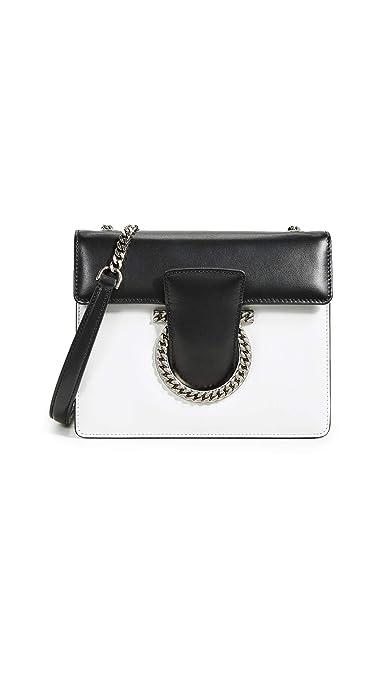 dc616a3a0 Salvatore Ferragamo Women's Thalia Small Shoulder Bag, New Bianco, White,  Black, One
