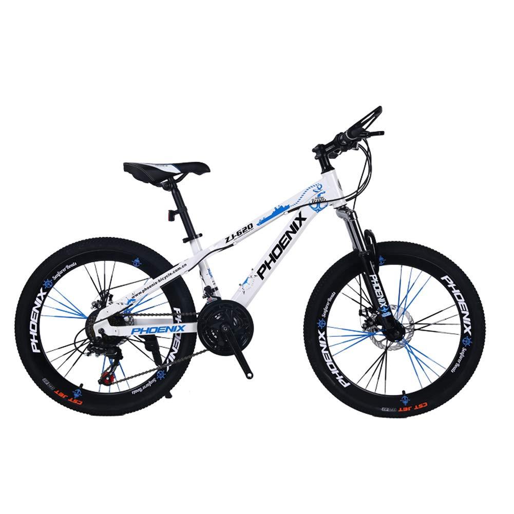 子供用自転車 LLL 24インチ 可変スピードマウンテンバイク 12~17歳 男の子 女の子 学生 サイクリング  ホワイト B07RB5HVXZ