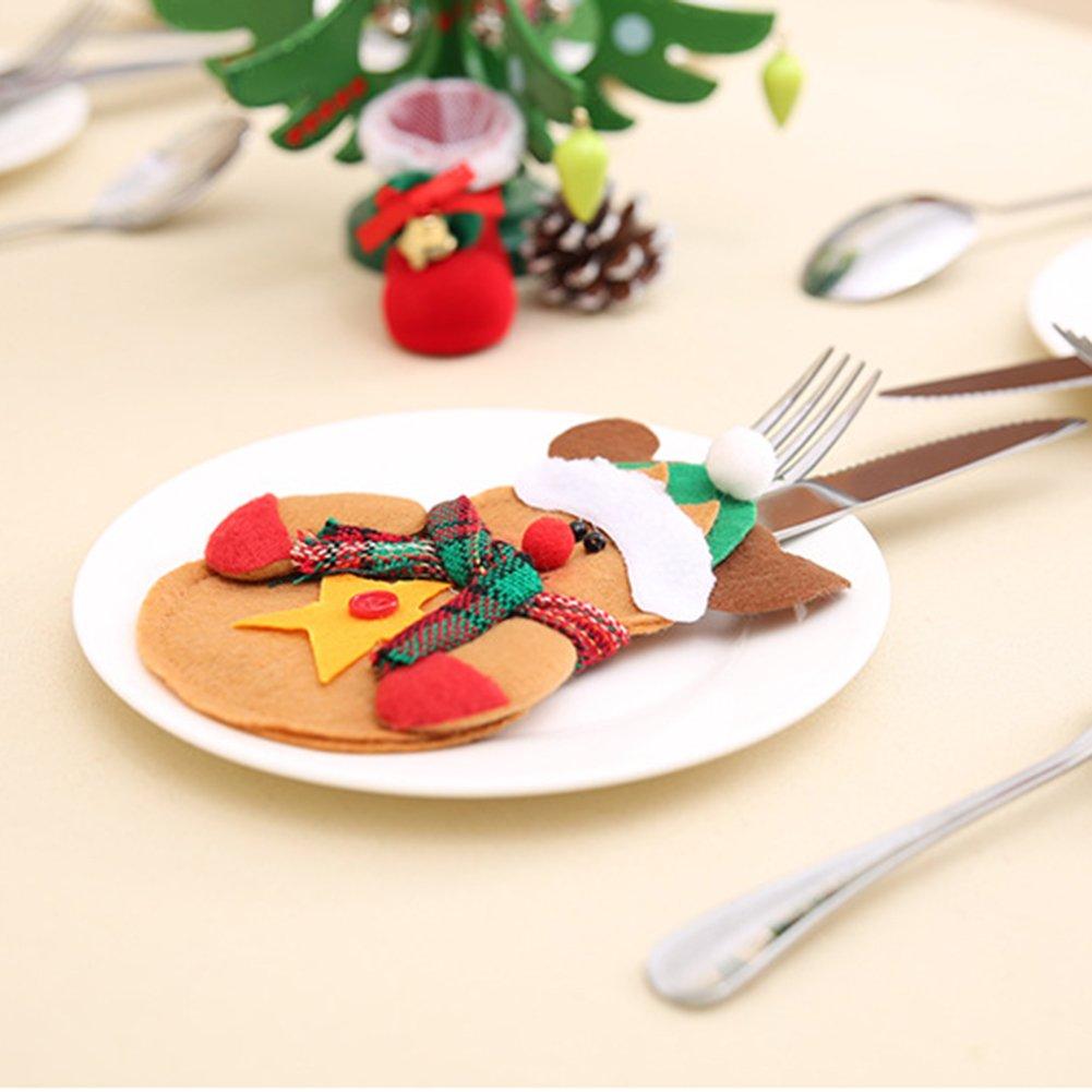 CHoppyWAVE Cutlery Pouch, Santa Claus Pattern Cutlery Holder Utensil Bag Fork Knife Pocket Xmas Decoration - A6-2-1 Tree Santa Claus by CHoppyWAVE (Image #4)