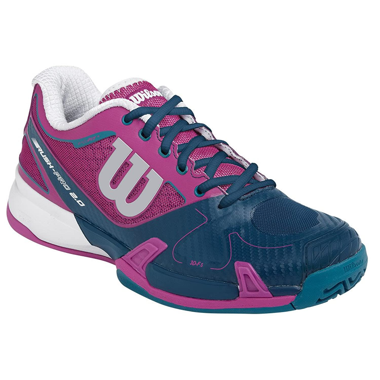 Wilson Rush Pro 2.0 Womens Tennis Shoes Dark Pink/Teal