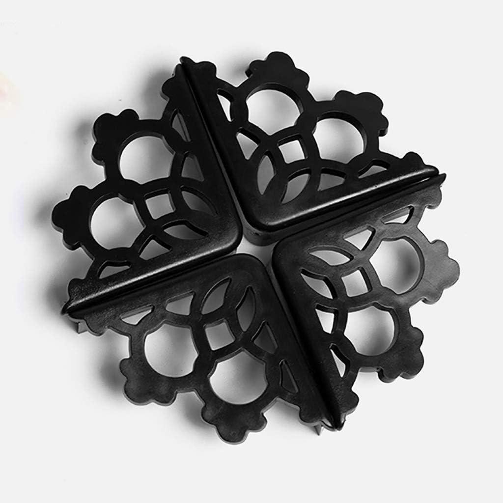 Couleur : Noir Protege de Coins avec pour Tables et Tout Meubles Pointus Souple Anti-Chocs WYQ Black Protection Coin de Table b/éb/é Silicone Lot de 8