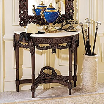 Design Toscano Chateau Gallet Marble Topped Console Table