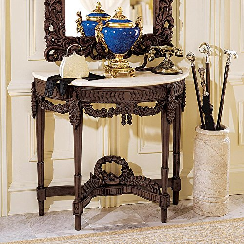 Design Toscano Chateau Gallet Marble Topped Console - Antique Tables Marble