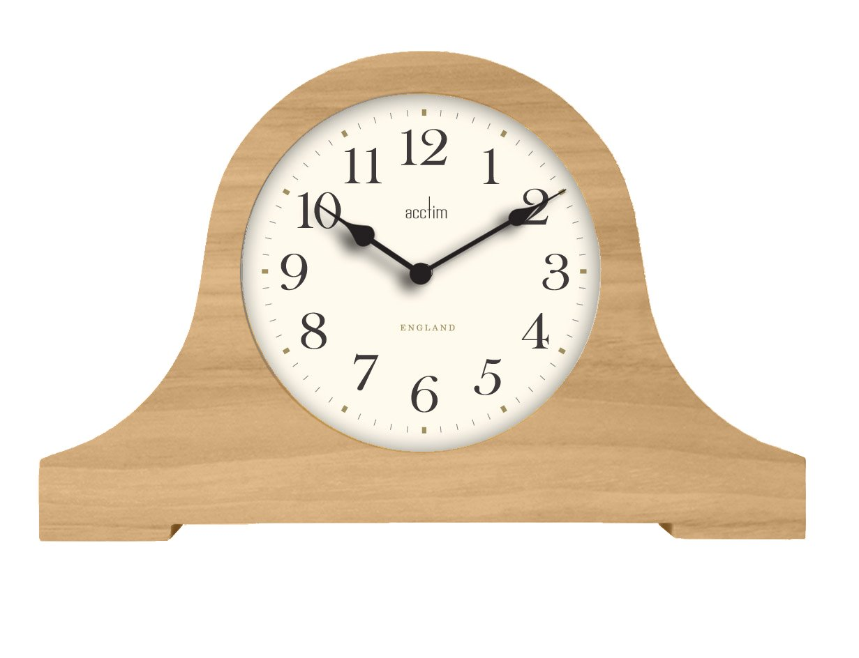 Acctim 33761 Whiston Napoleon Table Clock in Natural