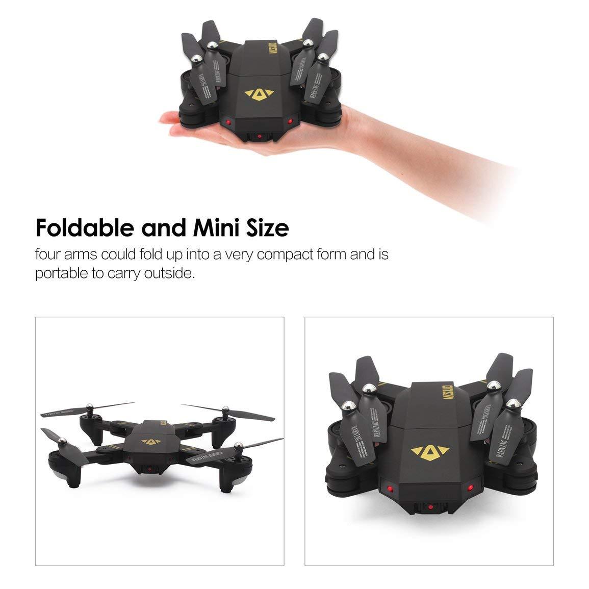 VISUO XS809HW 2.4G cámara Plegable WiFi FPV Selfie RC Drone ...