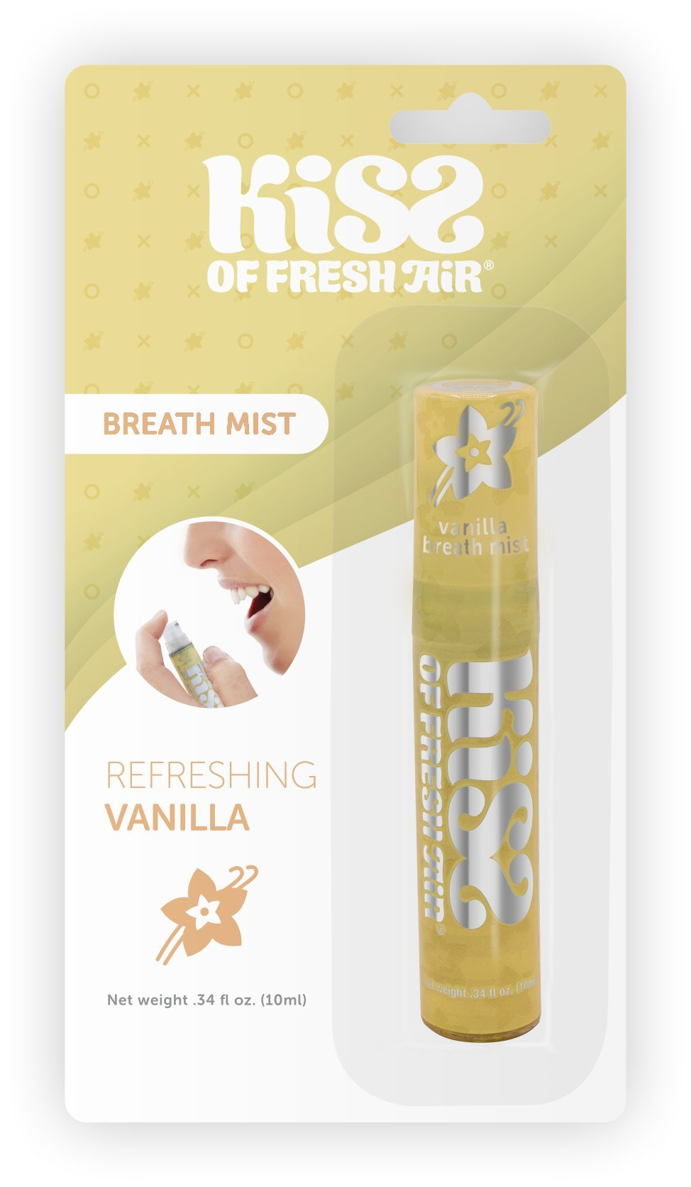 Kiss of Fresh Air Breath Spray Vanilla (''KISS PACK OF 6'')