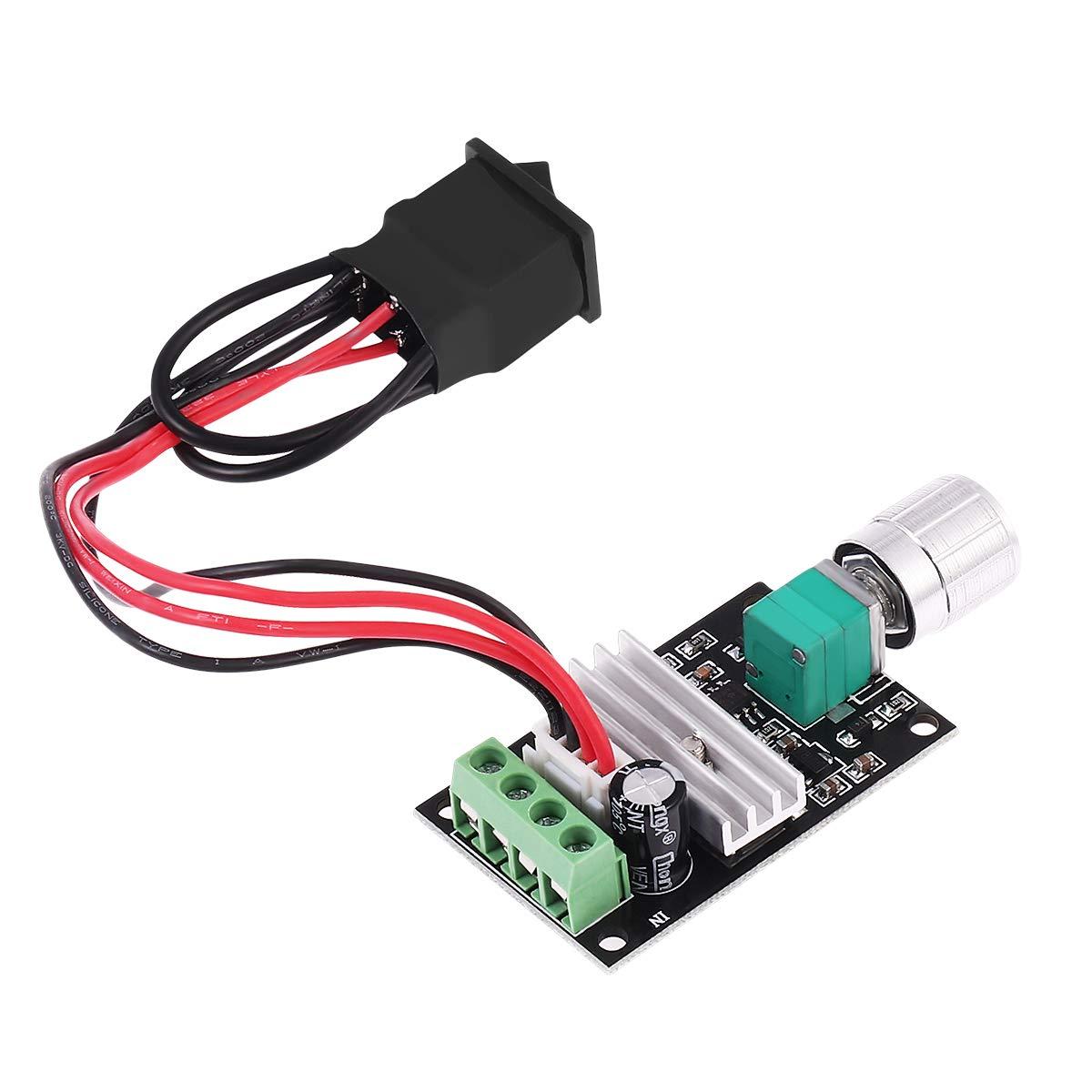 Einstellbarer Reversible Motor Driver Switch PWM UEETEK 1203BB 6V 12V 24V 3A 80W DC Motor Drehzahlregler