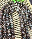 Tibetan Dzi Beads 15-20mm, Tibetan Agate Beads rice barrel cilinder bottle Green Agate Tibetan Agate Stone Full strand 16''