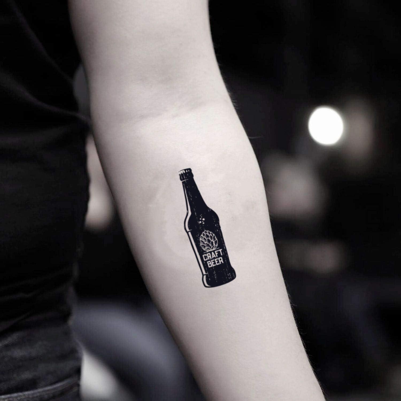 Tatuaje Temporal de Botella de cerveza (2 Piezas) - www.ohmytat ...