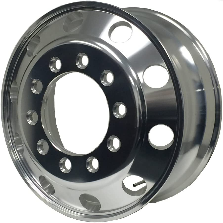 A248202 Aluminum Wheels 24.5 x 8.25 Stub Pilot Outside polished - for steer Position BUDD PCD:10X285.75 ALCOA STYLE