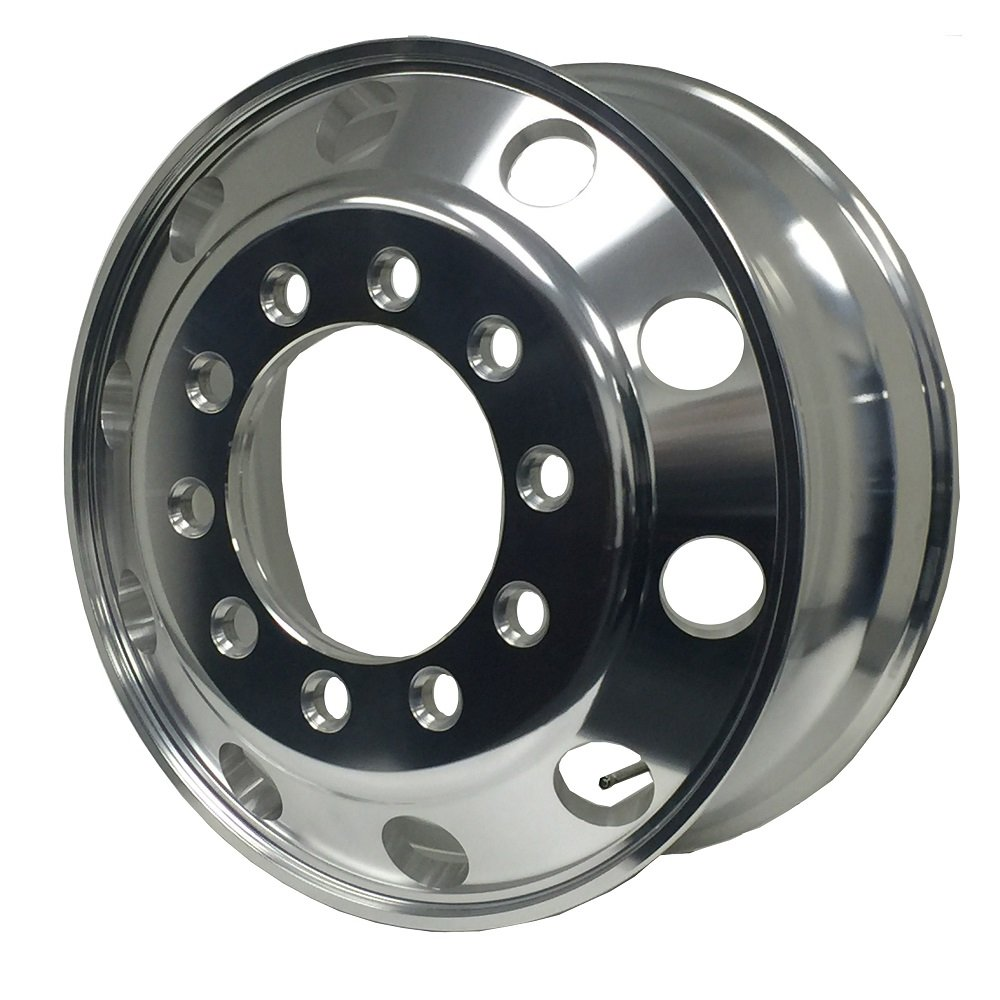 A228204 Aluminum Wheels 22.5 x 8.25 Stub Pilot(BUDD) PCD:10X285.75 ''ALCOA STYLE'' (Outside Polish Finished - for Steer Position)