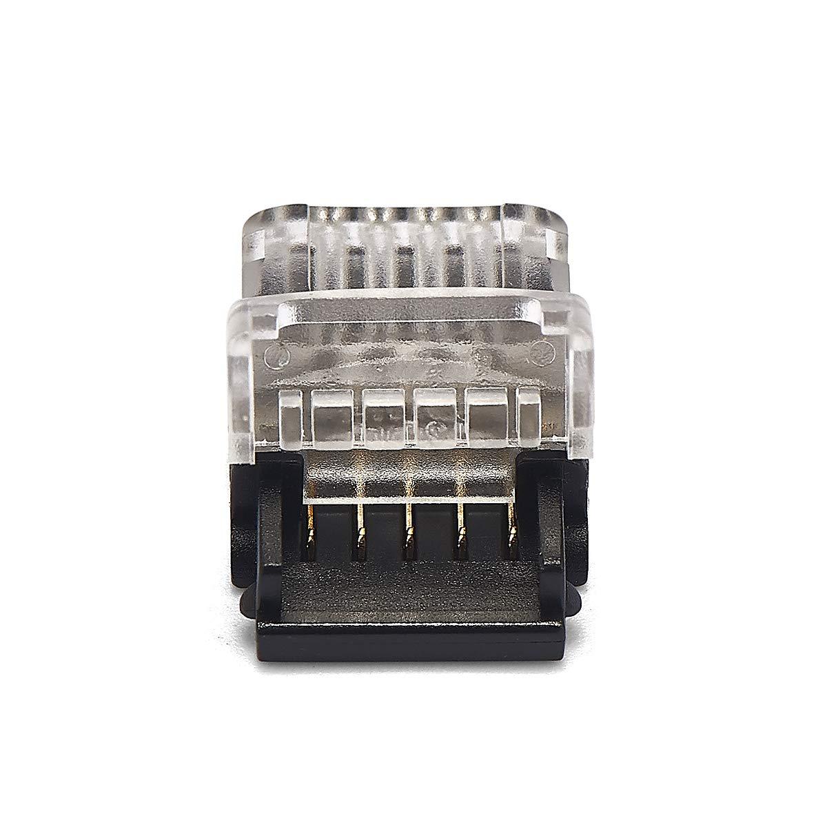 36.00V 2 broches ou 12 mm 5 broches sans soudure Lot de 3 bandes LED SMD ou RGBW de 8 mm 10 mm