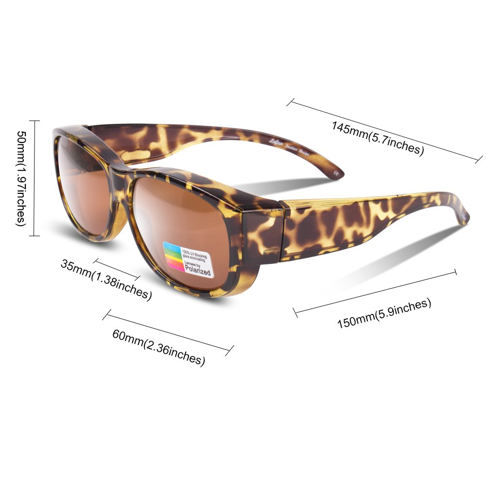 af64b50ba23 Amazon.com   Ewin O02 Polarized Wear Over Sunglasses Prescription Fit-over  Glasses Unisex Styles for Men Women Driving