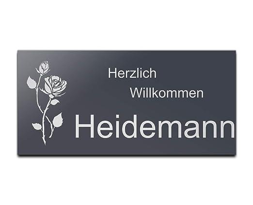 Puerta placa metálica (con grabado + Diseños Namensschild ...