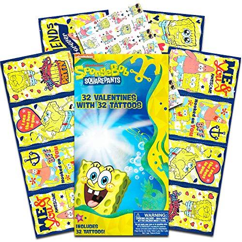 Nickelodeon Sponge Bob Squarepants 32 Valentines With 32 -