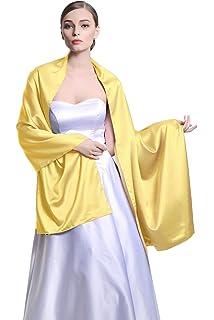 BEAUTELICATE Chal Estola Mujer Seda Satén para Fiesta Novia Boda 25 Colors