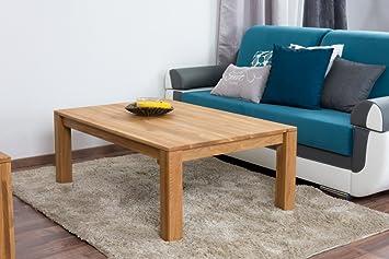 Table basse Wooden Nature 120 en chêne massif - 45-120-80 cm (H - B ... d5e37dca2a2c