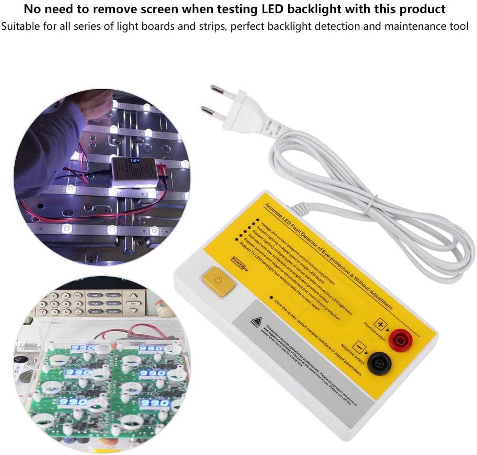 DC0-200V Probador inteligente LED EU220V Probador inteligente LED Probador de luz de fondo de TV LED Herramienta de prueba de cuentas de tiras multiusos con 1 juego de cable rojo y negro