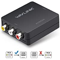 RCA to HDMI, Wavlink Composite Video Audio Converter Adapter Supports PAL, NTSC3.58/4.43, SECAM with USB Cable for TV, Blu-Ray, STB, DVD, PS3, VCD