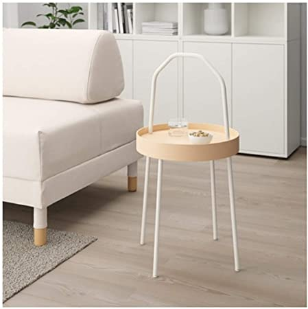 Ikea Burvik 603.403.89 - Mesa Auxiliar (38 cm), Color Blanco ...